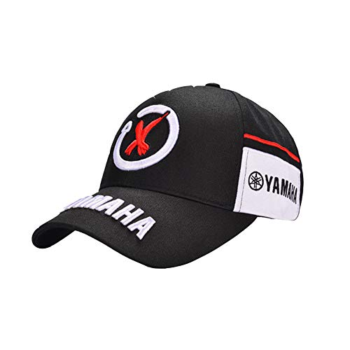 Utopiashi Black Red Yamaha Embroidery Hat Car Moto GP Moto Racing F1 Baseball Cap