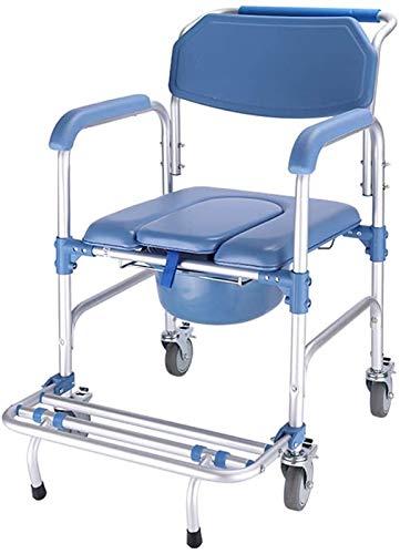 HMMN Ayudar a la Silla de comisio, a Prueba de Agua, barajada de Brazo Drop-Brazo, para Personas Mayores Ancianos, discapacitados, discapacitados