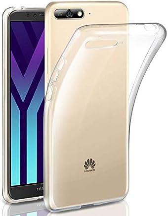 COPHONE® Coque de Protection Huawei Y6 2018 Etui Transparent antidérapent Coque en Silicone Transparente Huawei Y6 2018 et Discrete. Housse Huawei Y6 2018 Haute Protection.