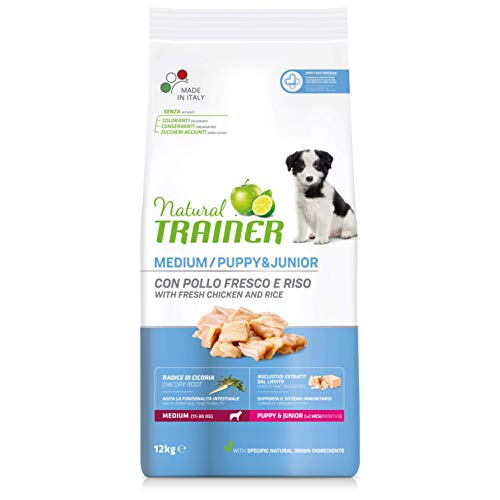 Trainer Natural Puppy & Junior Medium Pollo Fresco 12 kg ⭐