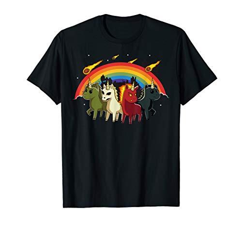 4 Einhörner der Apokalypse Vier Apokalyptische Reiter T-Shirt