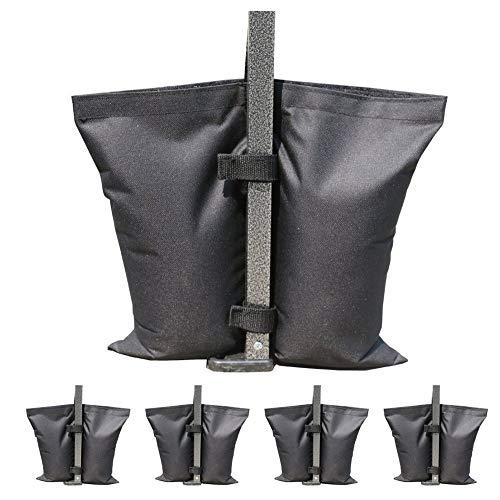 SHDT Juego De 4 Bolsas De Peso con Base De Paraguas De Doble Costura Resistente, Bolsa De Pesas para Piernas con Toldo para Toldo Emergente Bolsa De Pies con Peso
