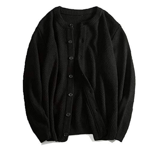 Chaquetas De Otoño Nuevas para Hombre, Abrigo De Punto para Hombre, Chaqueta De Suéter L Negro