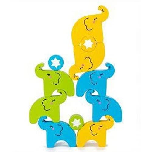 Elefante Impilabile High Balance Blocchi di Legno Facile Da Conservare Giocattoli per Bambini Coordinazione Mano-occhio Primo Educazione Giocattoli