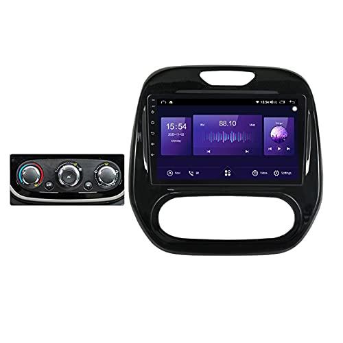 ADMLZQQ Autoradio Bluetooth 2 DIN Carplay,9'' Android 10.0 Autoradio con 5GHz WiFi/Controllo Volante/Telecamera di Retromarcia/Touch Screen/DSP/Mirror-Link/per Renault Captur 2016-2019,Manual,6G+128G