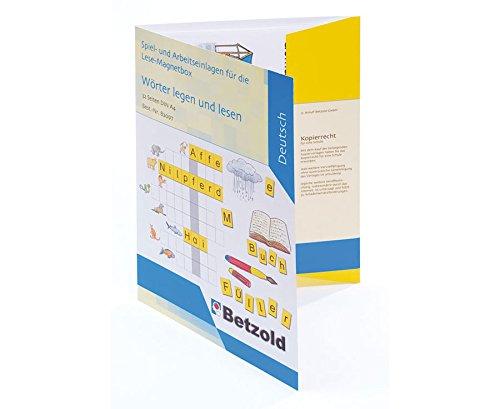 Betzold 82097 - Lese-Magnetbox Zubehör 32 x Einlegeblätter Deutsch - Lesen Lernen Lesebox Kinder 1. Klasse Grundschule