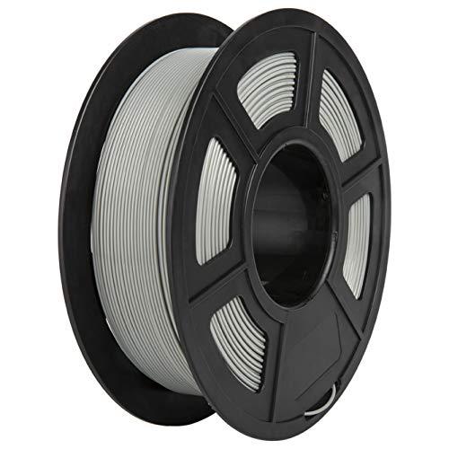PLA Filament, PRINSFIL Filament 1,75 mm PLA für FDM 3D Drucker, 3D Druckmaterialien 1 kg 1 Spool, Achat Grau