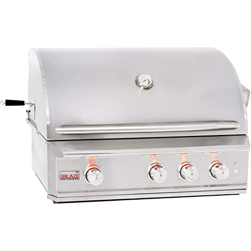 "34"" Professional Grill with 3 Burners Fuel Type: Natural Gas Gas Grills Natural"