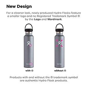 Hydro Flask Standard Mouth Water Bottle, Flex Cap - 24 oz, Graphite