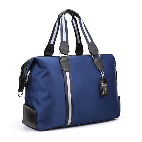 ANPTER Sac de Sport Sac Voyage Bagage Duffel Fitness Imperméables Travel Bag Gym Vacances Bandoulière Fitness Travail Weekender Oxford Sac à Main Femme Homme(Bleu Sac de Sport)