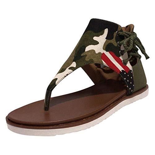 Sandales pour Femmes Compensées, Sandales à Plateforme épaisse et Confortables pour Femmes 2021, Chaussures de Voyage Romaines pour Plage d'été, confort plat