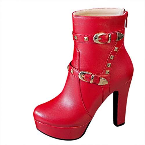 Fantastic Deal! Kiminana Retro Ladies Shoes Scrub Sandals Chunky Heels Round Toe Non-Slip Sweat Resi...