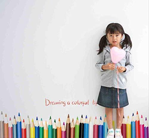 JPDP Kleurrijke Potlood Muursticker voor Kinderen Kamers Het tekenen van een Kleurrijke Leven Muurstickers Stickers Art Kwekerij Kinderen Kamer Decor Poster