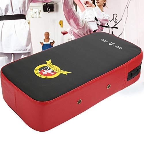 Evonecy PU Rojo + Manoplas de Boxeo Negras, Almohadillas para Objetivos de Boxeo, para Entrenamiento de Boxeo Taekwondo(40 * 21 * 11cm-Red)