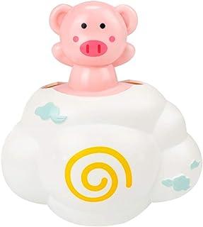 TOYANDONA Baby Bath Toy Automatic Induction Sprinkler Bath Toy Bathtub Toys for Toddlers Infant Kids Boys Girls (White Pink)