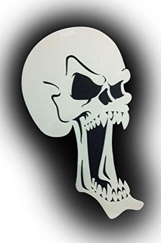 Airbrush sjabloon SCREAMERS doodskop Skull NS06 door Richard Markham