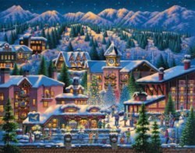 Rocky Mountain Christmas 1000 Piece Puzzle by Dowdle Folk Art