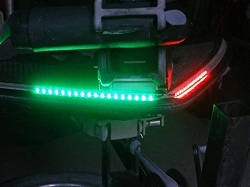 Green Blob Outdoors LED Red & Green Navigation Boat Bow light Strips Kit Rub...