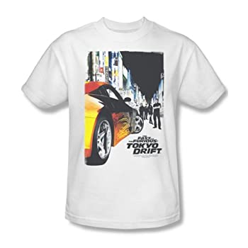 Tokyo Drift - Mens Poster T-Shirt In White Size  XXX-Large Color  White