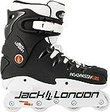JACK LONDON Patines Linea Aggressive Stunt Patines en línea + ULTRAPOWER Mochila de cordón | Hombres | Mujeres | ABEC7 Carbon Steel 608ZZ | Tallas 40-46 (45EU)