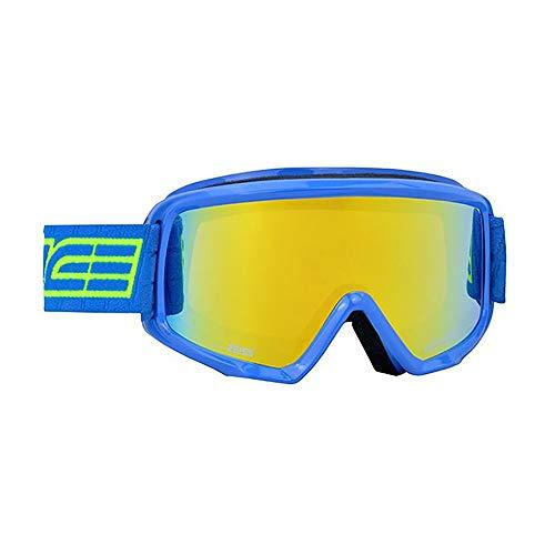Salice 608DARWF skibril SR lichtblauw dubbele ANTIFOG regenboog geel unisex volwassenen beschrijving montuur: lichtblauw, UNICA