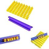 YouU Plastica Torta DIY Stampo Alfabeto Numero Lettera Cake DIY Stampo per Premere Timbro per Biscotti Stampo per Decorazione
