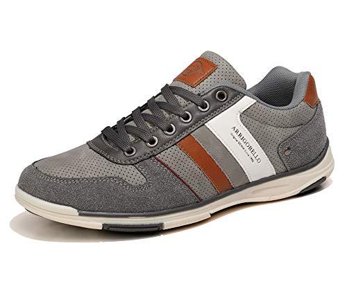 AX BOXING Freizeitschuhe Herren Sneaker Walkingschuhe Berufsschuhe Wanderschuhe Trainers Größe 41-46 (Grau, Numeric_46)