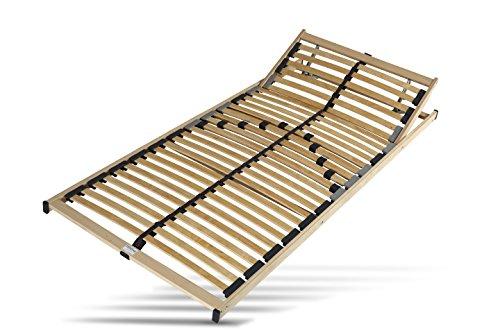 Hilding Sweden Lattenrost, 90 x 200 cm, mit 28 Latten aus Holz (Kopfteil verstellbar), Fertig montiert, Geeignet für alle Matratzen, Härtegrad 5-fach justierbar