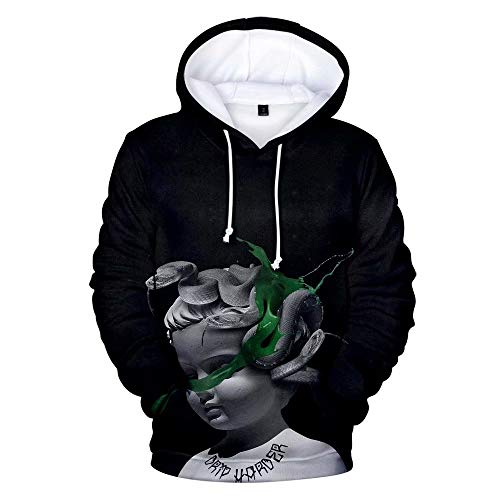 Amanecer Lil Baby Unisex Hoodie 3D Printed Hooded Pullover Sweatshirt Hoodie for Men Women Teen M