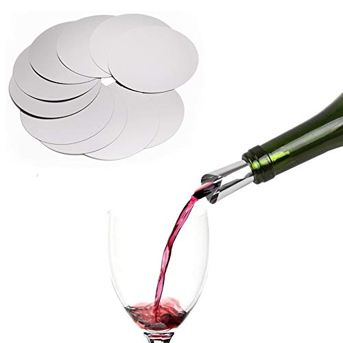 DropStop MiniDisk Schur Original Pack of n/° 5 Silver Wine Pouring Discs