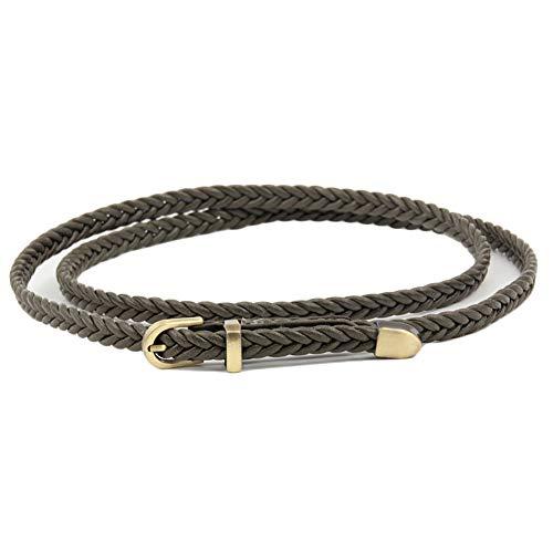 JIER Liquidación Cinturón Trenzado, cinturón elástico, cinturón de Tela con Cuero...