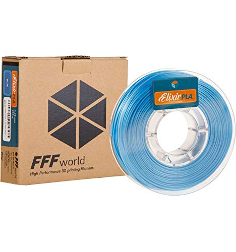 FFFworld 1 kg. Elixir PLA 1.75 mm Blue: Amazon.es: Electrónica