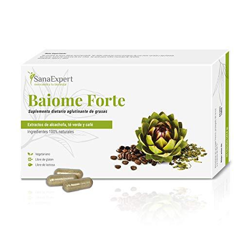 SanaExpert Baiome Forte| INTEGRATORE DIMAGRANTE BRUCIA GRASSI | con estratto di carciofo, estratto di semi di caffè verde e tè verde (60 capsue). 100% Vegan.