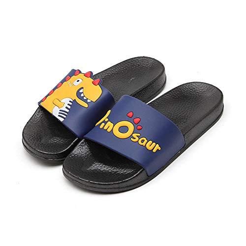 TDYSDYN Zapatillas sin Cordones para Mujer/Hombre,Inicio Sandalias y Zapatillas Mujer, Zapatillas de baño Interior Antideslizantes-Azul Marino Negro_42-43