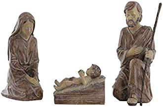 Creative Co-Op Resin Holy Family (Set of 3 Pieces) Figures and Figurines, White