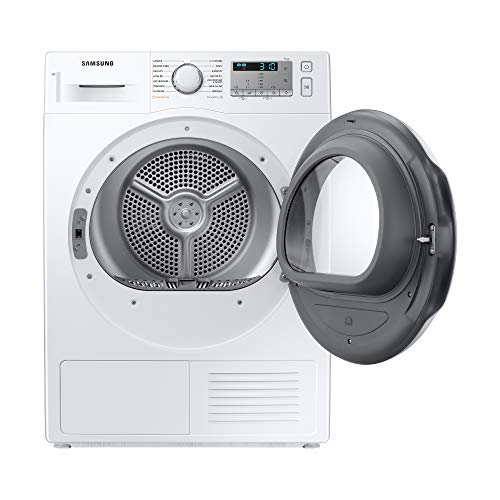 Samsung Elettrodomestici DV80TA020TH/ET Asciugatrice Crystal EcoDry, Front Load, 8 kg, Bianco, Oblò Bianco