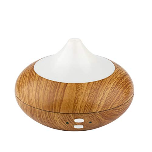 Couleur du Bois LED Son ultrasonique Smart Diffuseur d'arôme Huile Essentielle Diffuseur d'air Humidificateur Brume d'aromathérapie pour Le Bureau à Domicile-Couleur du Bois (BCVBFGCXVB)