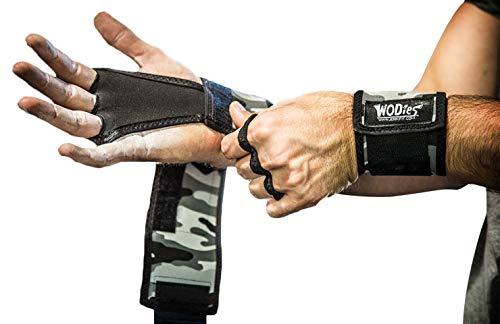 JerkFit WODies Full Camo 2in1 Combined Wrist Wraps, Palm Protection (Medium, Grey Camo)