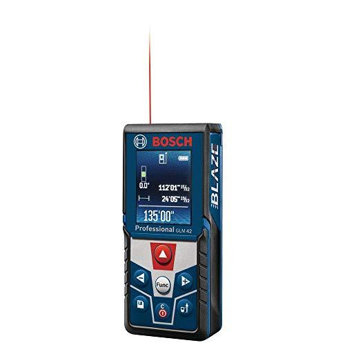 Bosch GLM 42 BLAZE 135 foot Handheld One-Position Laser Measurer with Full Color Backlit Display (Non-Retail Packaging)