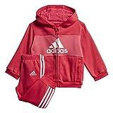 adidas I Log Fzhd J FL, Tuta Unisex Bambini, rosact/Rosrea/Bianco, 104