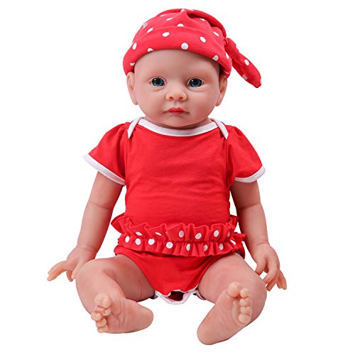 IVITA Ganzkörper-Silikon Reborn Baby Doll realistische Neugeborenes Baby Doll echte Baby Doll handgemachte lebensechte Blaue Augen weich lebendige Baby Doll Mädchen (WG1523-48cm-3902g-Mädchen)