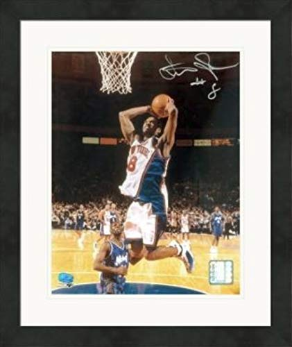 Latrell Sprewell autographed 8x10 photo (New York Knicks, All Star) #1 Matted & Framed