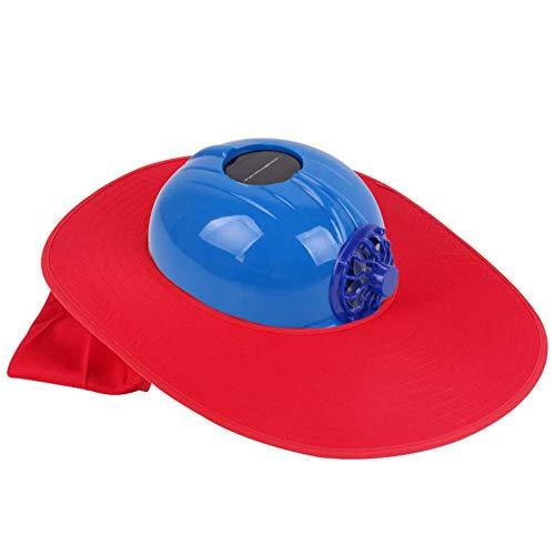 Lai-LYQ multifunctionele zonne-energie koeling ventilator veiligheidshelm Outdoor werkplek beschermende pet harde hoed Blue Red