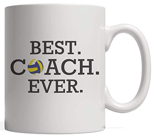¡El mejor entrenador de voleibol de todos los tiempos! Taza impresionante Idea de regalo para jugadores Taza novedosa Amantes de la pelota de voleibol divertidos Acabas de recibir Vocabulario de térmi
