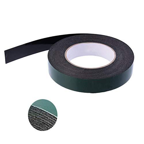 Mydio 10m (25mm) Schaum Doppelseitiges Klebeband Schwamm | Perfekte Montage-Klebeband für Automotive, Formkörper, LED, Waterproof| Ultra Strong