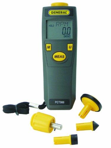General Tools PCT900 Digital Contact and Non-Contact Tachometer -