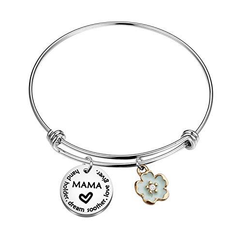 MYSOMY Pulsera de madre para madres, regalos para el día de la madre, abuela, madrastra, madrastra, madre en la ley, sostenedor de la mano sueño calmante amor dador