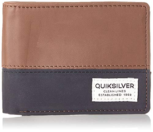 Quiksilver Nate Country, Monederos. para Hombre, marrón, Medium