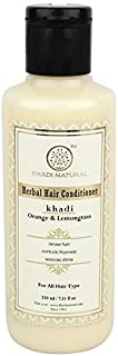 Khadi Natural Orange Lemongrass Herbal Hair Conditioner, 210ml