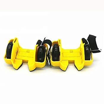 JRYⓇ Roller Skates - Heel Wheel Roller Skates Attachable Shoe Trainer Wheels for Kids Boys and Girls with Led Lights Multiple Colours
